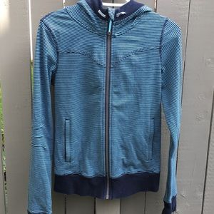 Lululemon Striped Zip Up Sweater Size 6
